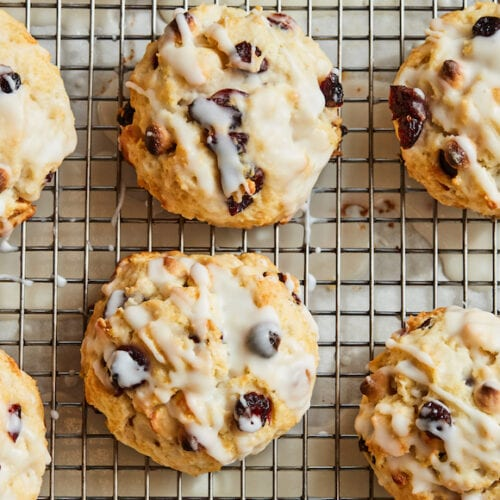 White Chocolate Cranberry Scones from www.whatsgabycooking.com (@whatsgabycookin)