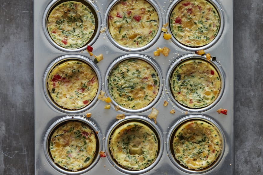 Vegetable Frittatas from www.whatsgabycooking.com (@whatsgabycookin)