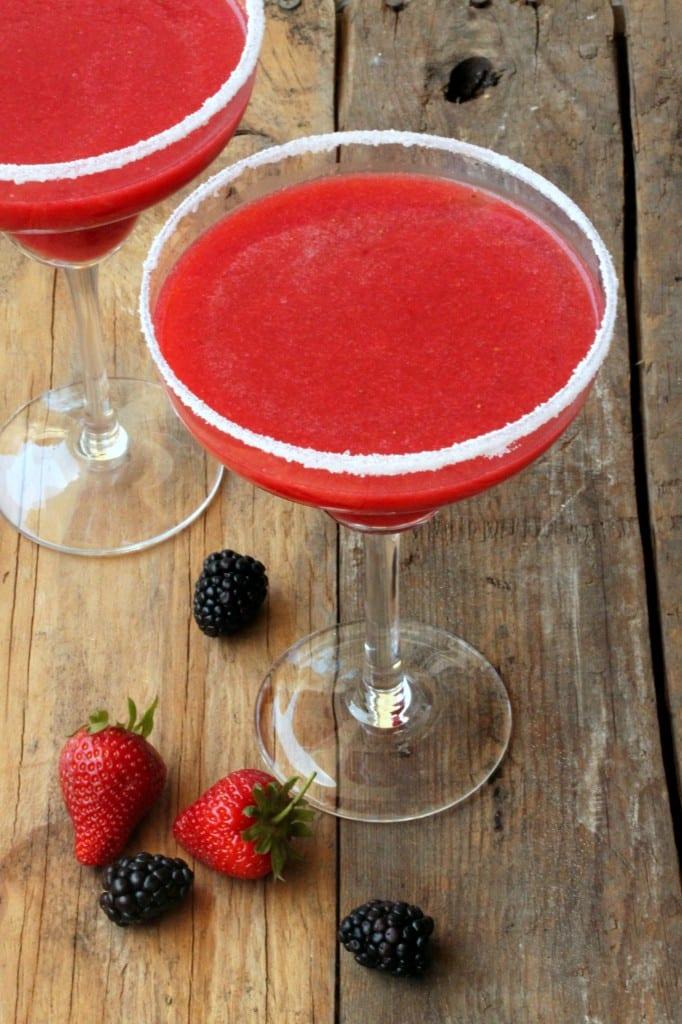 Strawberry Blackberry Margaritas