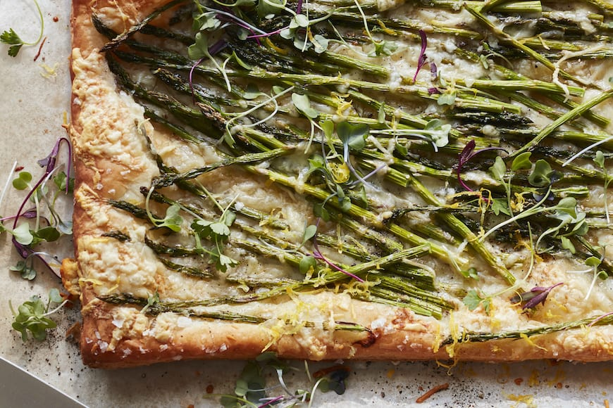 Asparagus and Gruyere Tart from www.whatsgabycooking.com (@whatsgabycookin)