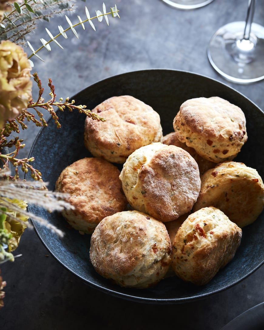 Parmesan Cheddar Chive Biscuits from www.whatsgabycooking.com (@whatsgabycookin)