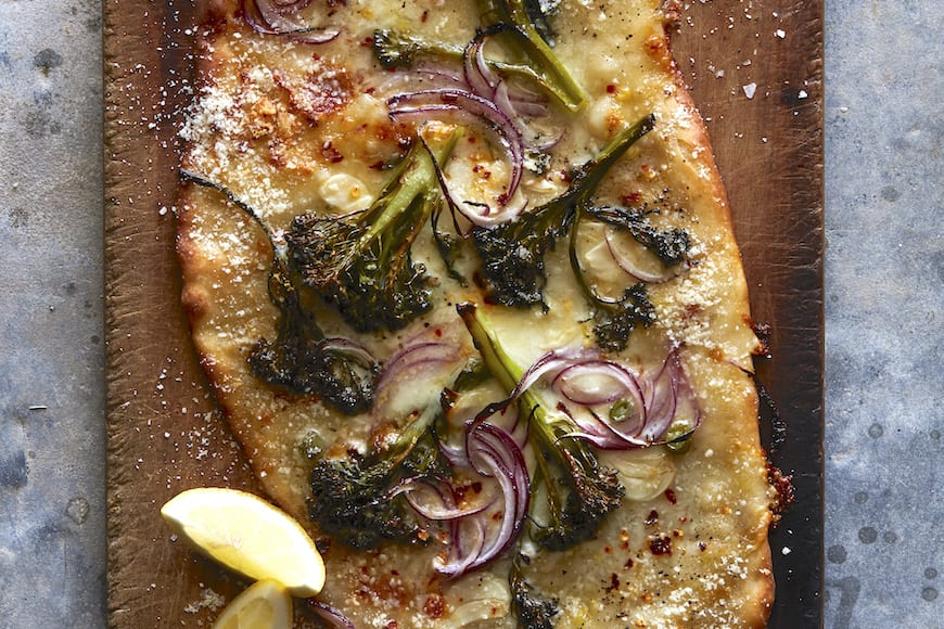Spicy Broccolini Pizza from www.whatsgabycooking.com (@whatsgabycookin)