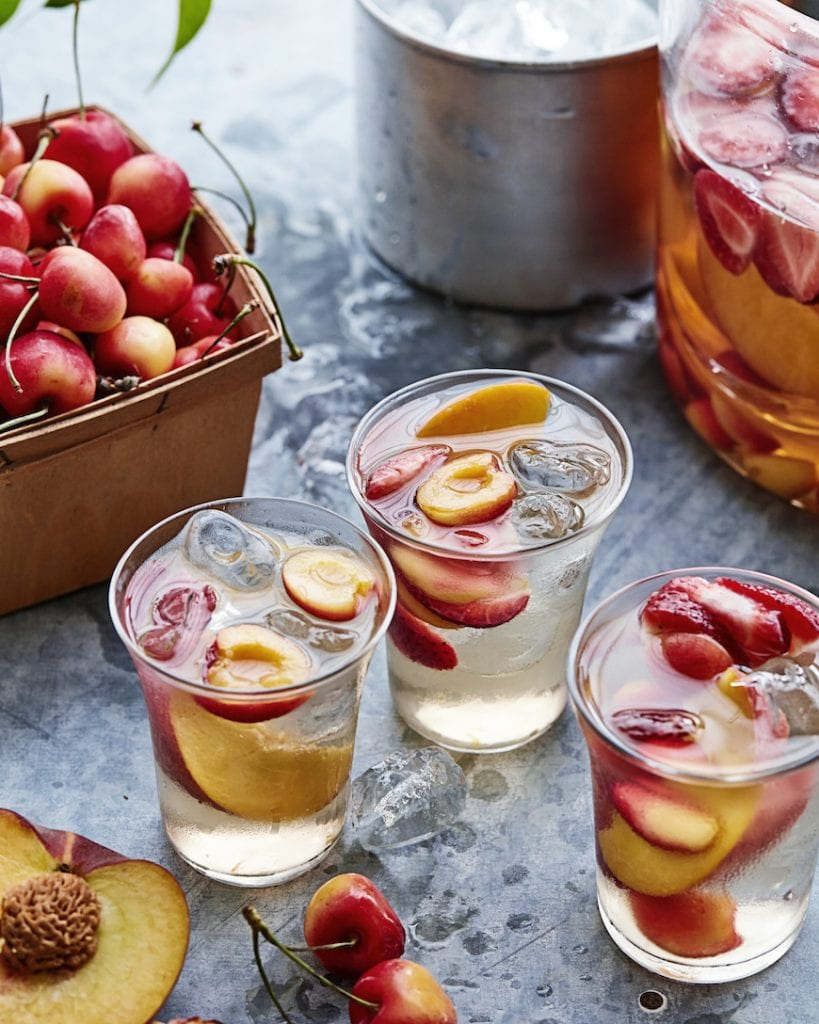 Stone Fruit and Strawberry Sangria from www.whatsgabycooking.com (@whatsgabycookin)