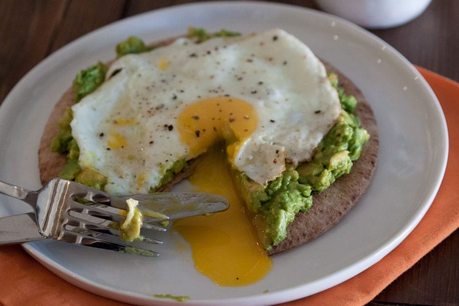 Avocado and Fried Egg Breakfast Pita