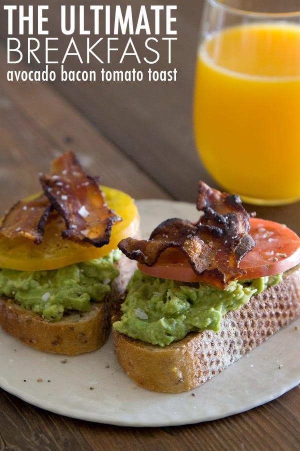 AvocadoBaconTomatoToast