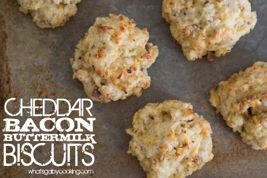Cheddar Bacon Buttermilk Biscuits