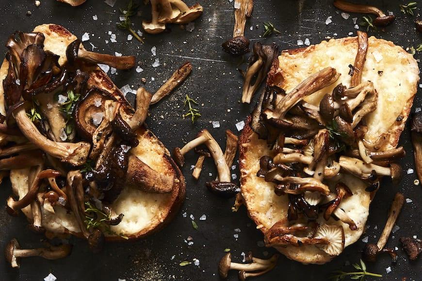 Mushroom and Fontina Tartine from www.whatsgabycooking.com (@whatsgabycookin)