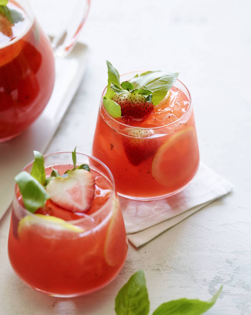 Strawberry Basil Lemonade from www.whatsgabycooking.com (@whatsgabycookin)
