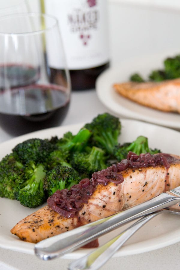 Pan Seared Salmon from What's Gaby Cooking
