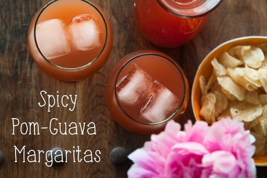 Spicy Pomegranate Guava Margaritas