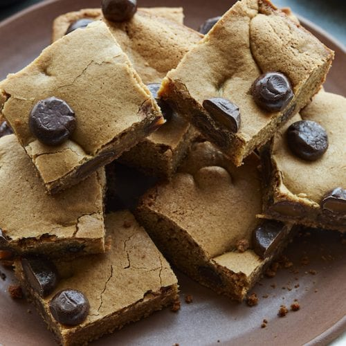 Chocolate Butterscotch Salted Caramel Blondies from www.whatsgabycooking.com (@whatsgabycookin)