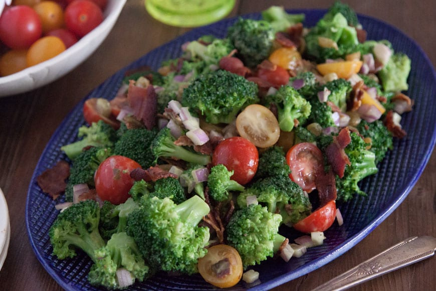 Broccoli Salad with Avocado and Bacon from What's Gaby Cooking