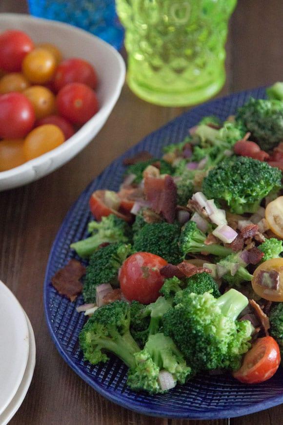 Broccoli Salad with Avocado and Bacon