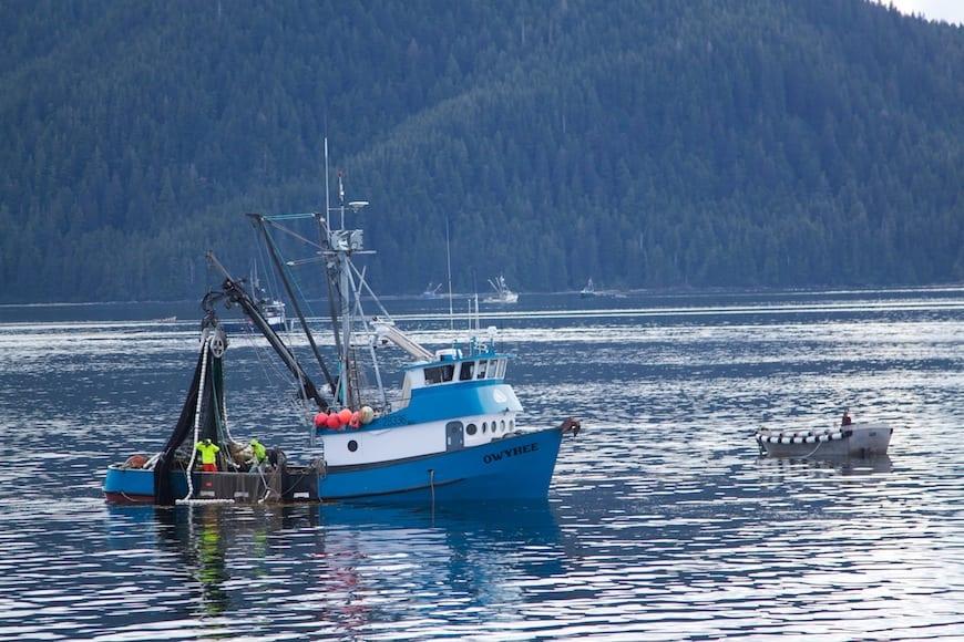 National Geographic Lindblad Alaskan Expedition Salmon Fishing