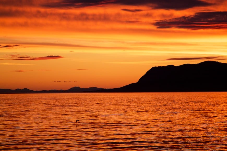 National Geographic Lindblad Alaskan Expedition Sunset