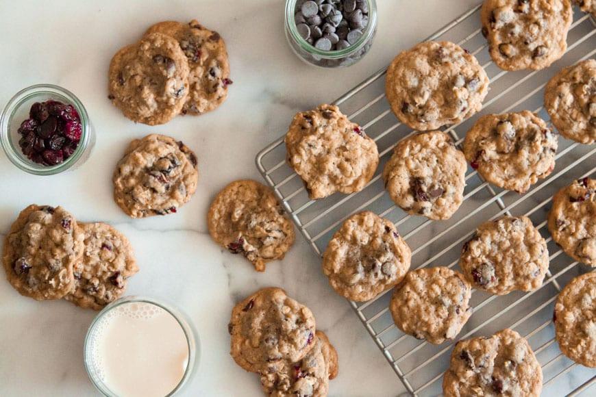 Chocolate Cherry Coconut Cookies