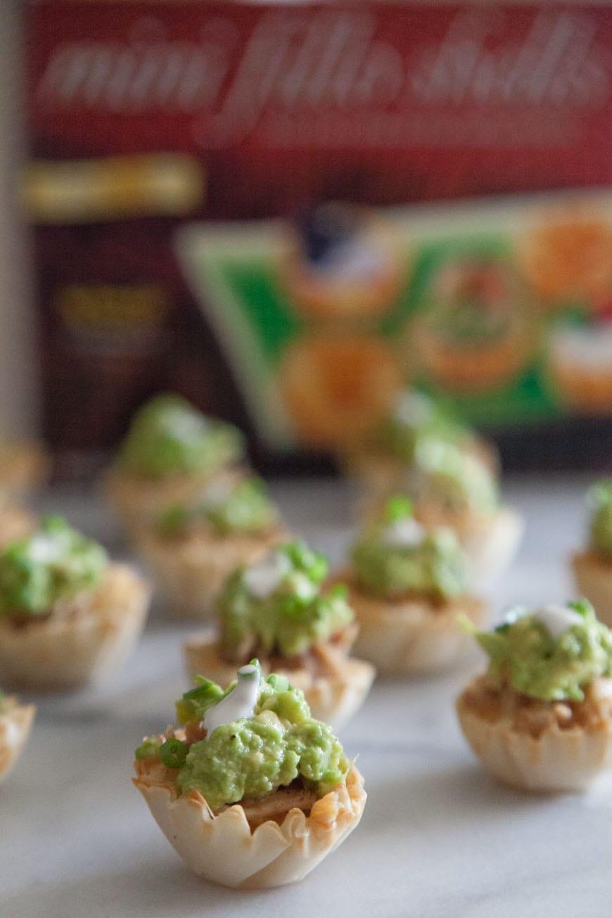 Mini Chicken Guacamole Tostadas