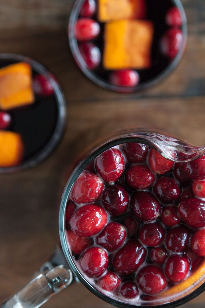 Cranberry Sangria | Perfect for the Holidays!