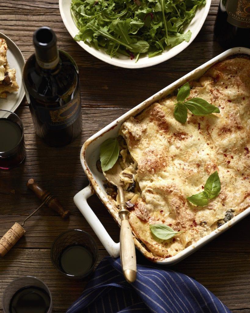 Spinach Mushroom Lasagna from www.whatsgabycooking.com (@whatsgabycookin)