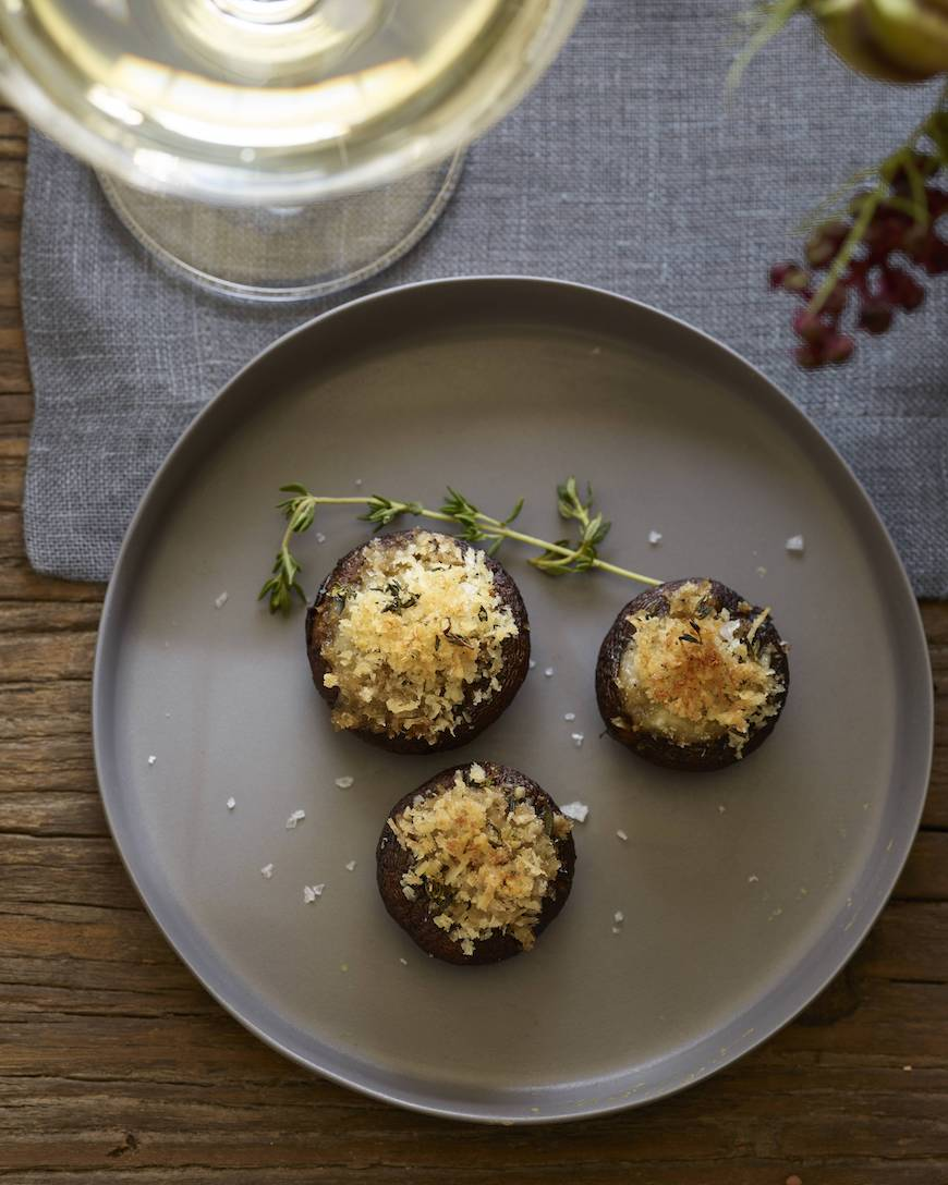Brie Stuffed Mushrooms from www.whatsgabycooking.com (@whatsgabycookin)