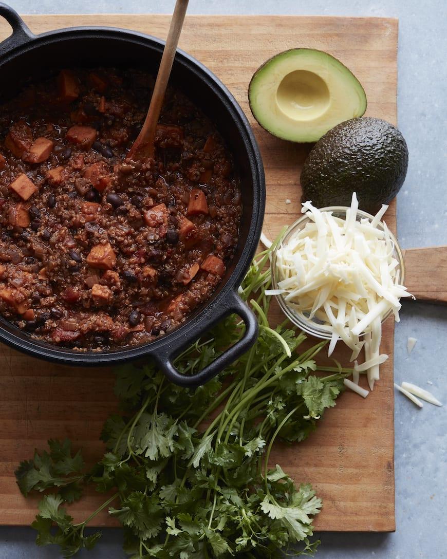 Black Bean Sweet Potato Chili - What's Gaby Cooking