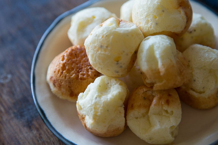 Pão de Queijo | Brazilian Cheese Puffs from www.whatsgabycooking.com