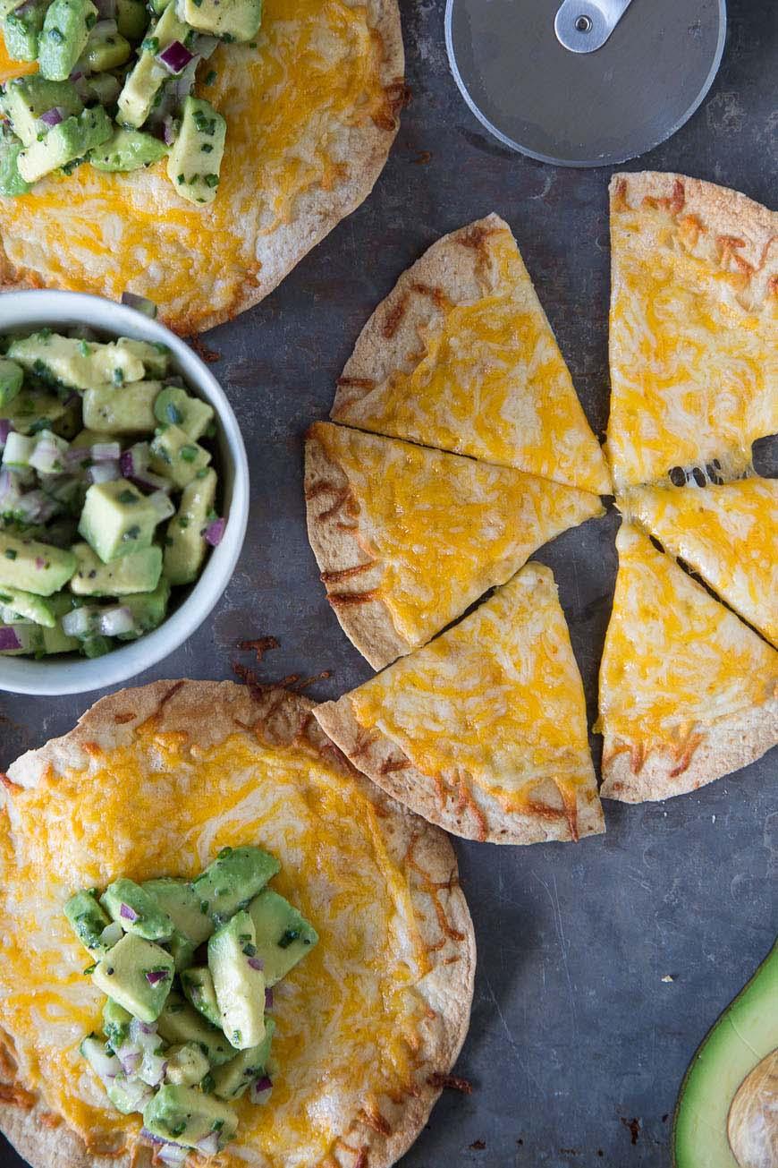 Cheese Crisps with Avocado Salsa