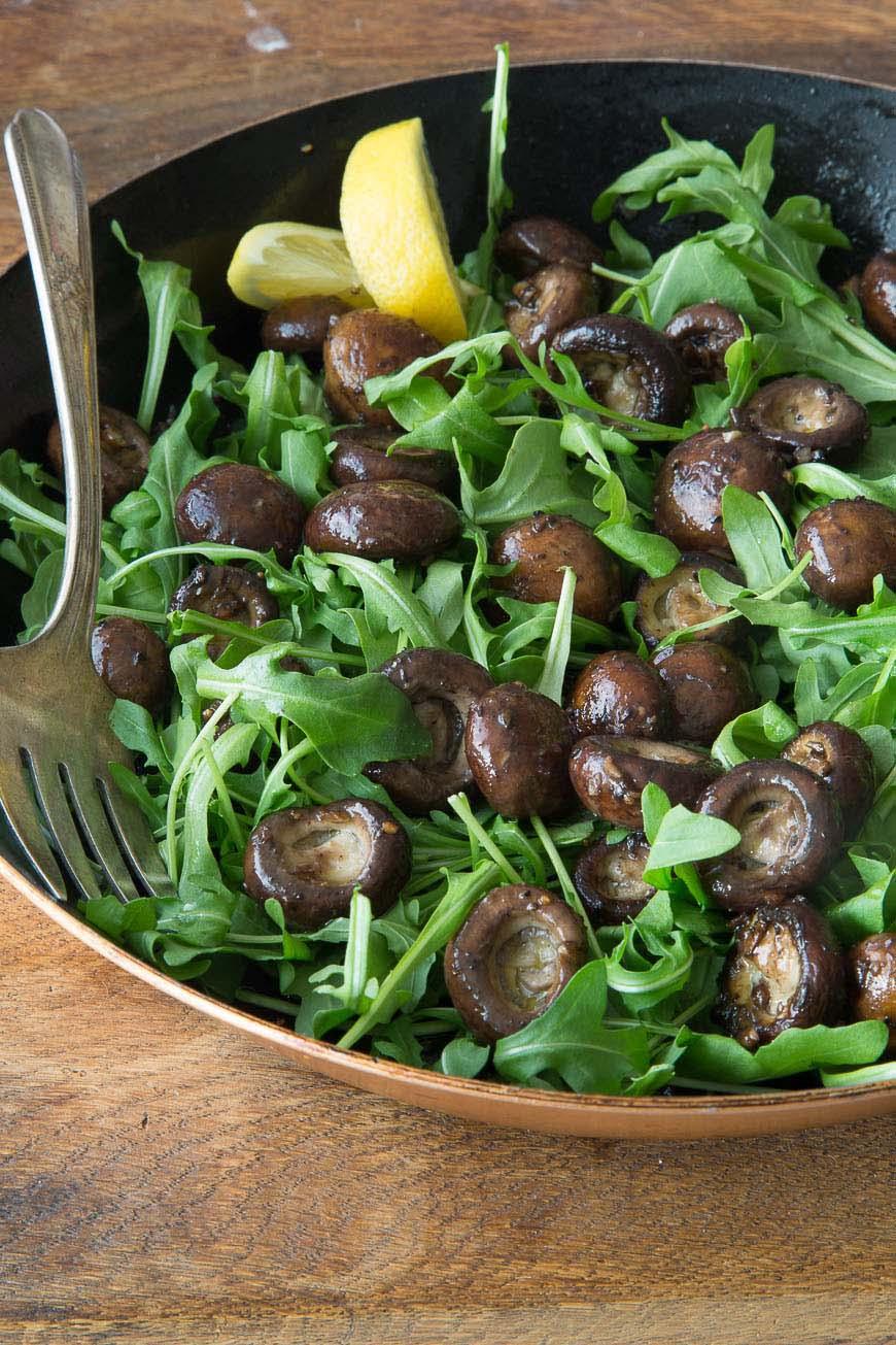Garlic Roasted Mushroom Salad