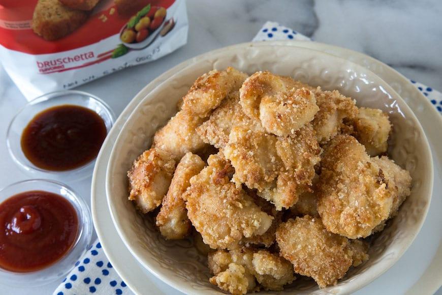 Bruschetta Breaded Chicken Fingers