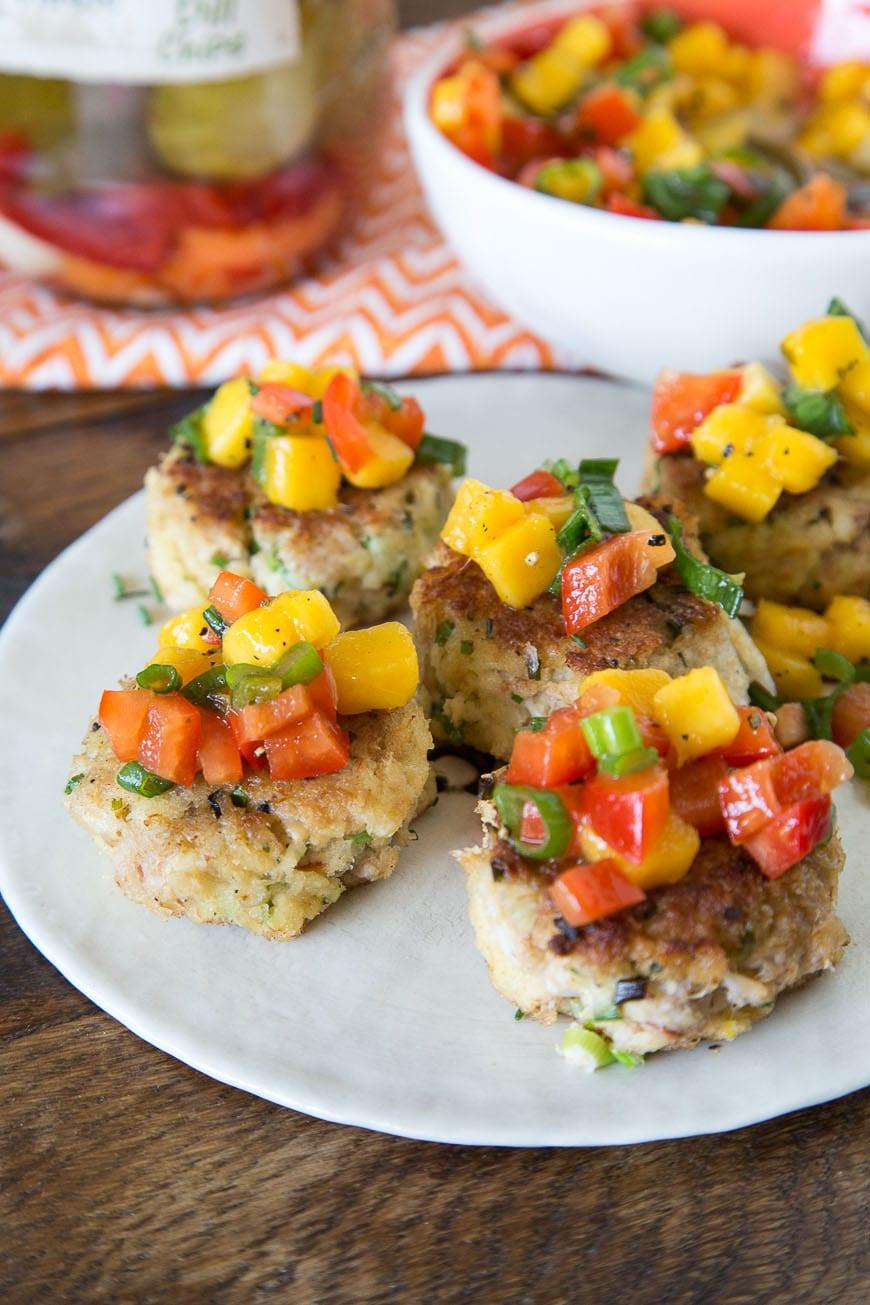 Crab Cakes with Mango Pepper Relish Recipe