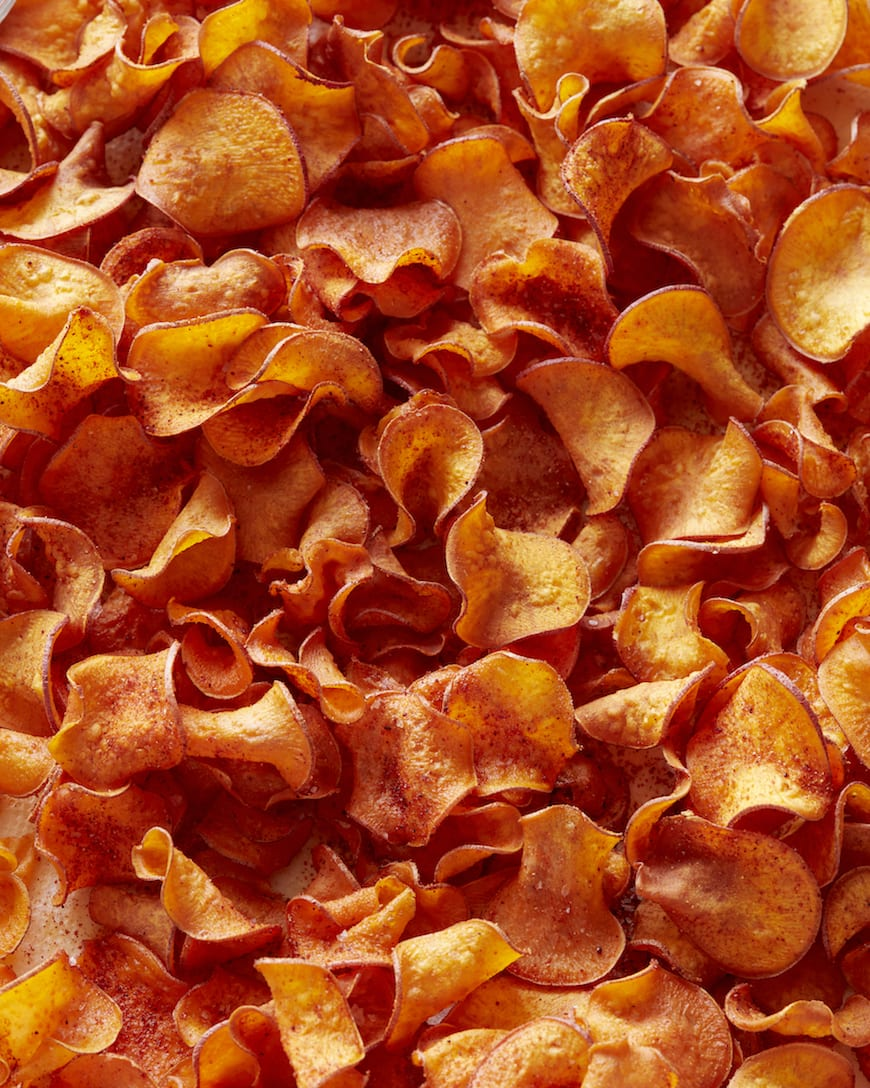 BBQ Sweet Potato Chips from www.whatsgabycooking.com (@whatsgabycookin)