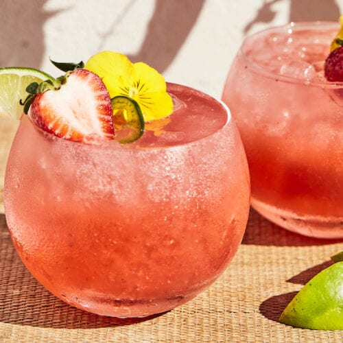 Strawberry Jalapeño Margaritas