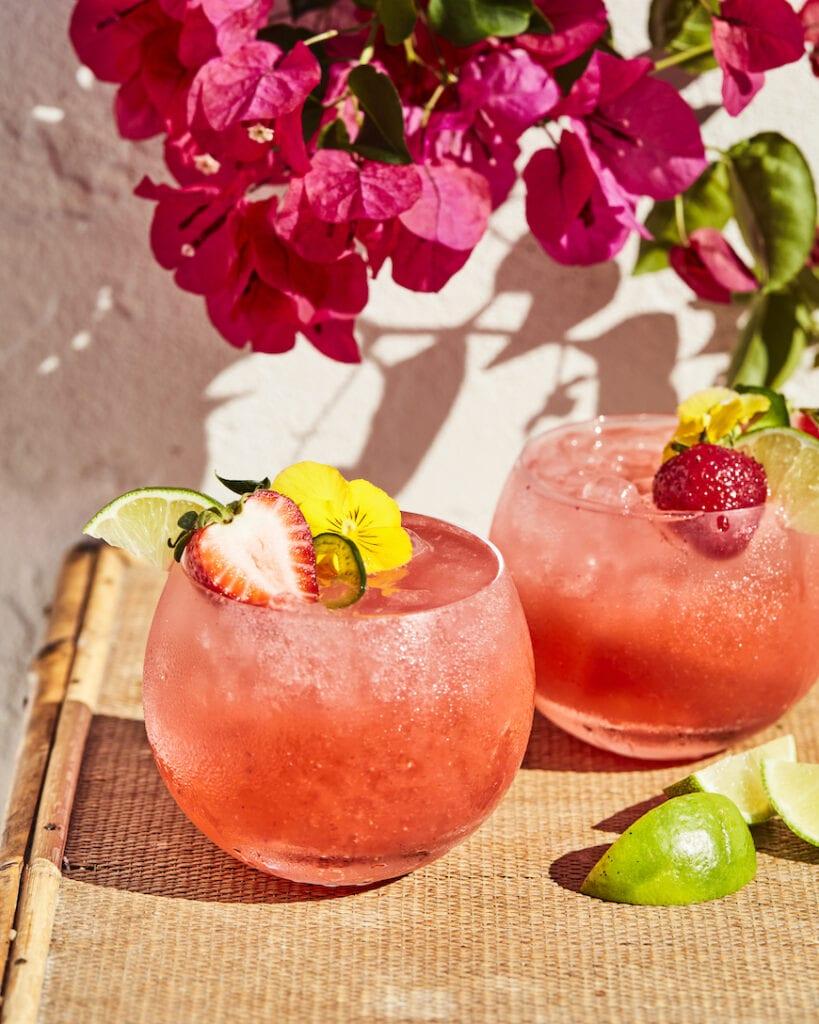 Strawberry Jalapeño Margaritas from www.whatsgabycooking.com (@whatsgabycookin)