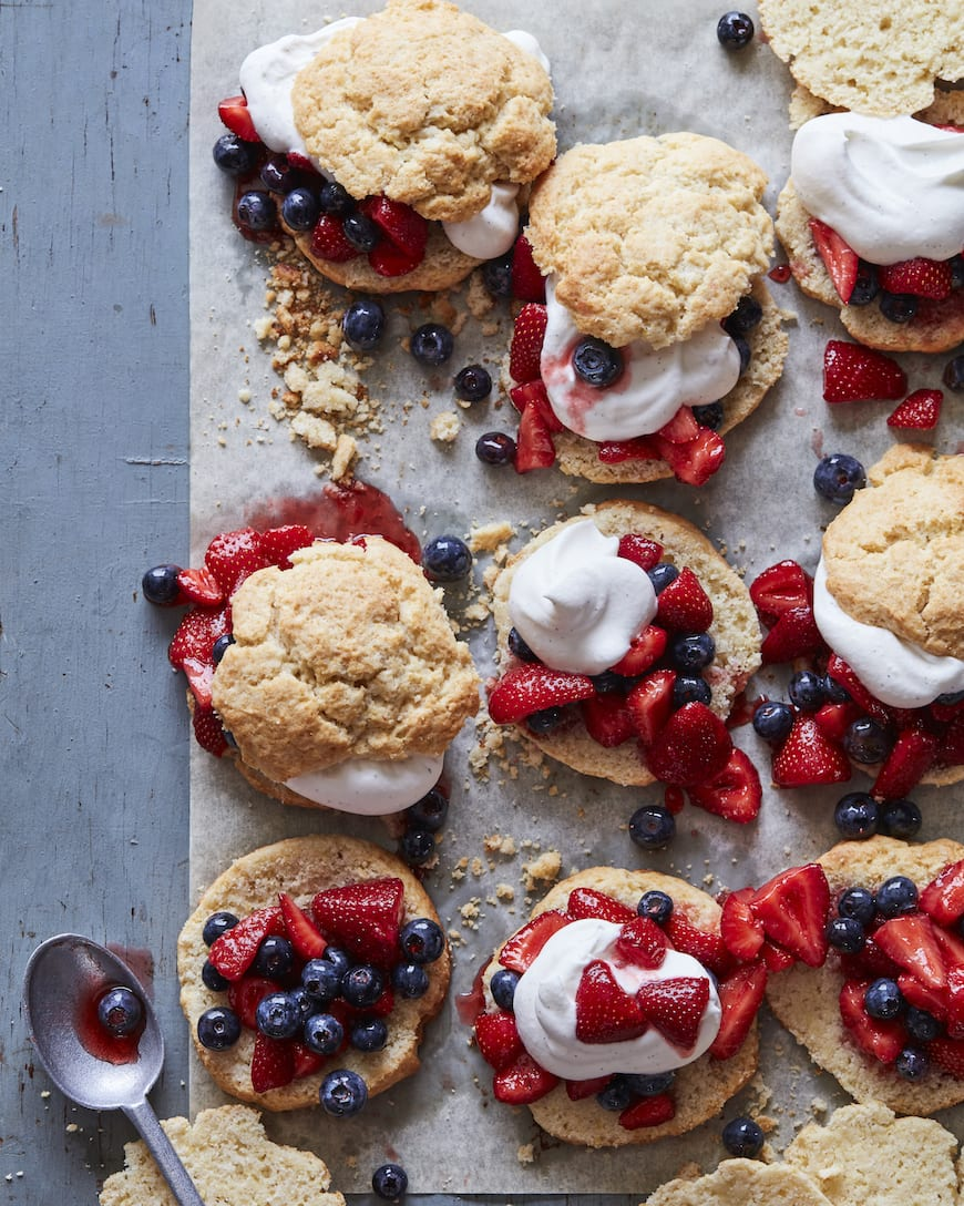 Strawberry Blueberry Shortcakes from www.whatsgabycooking.com (@whatsgabycookin)