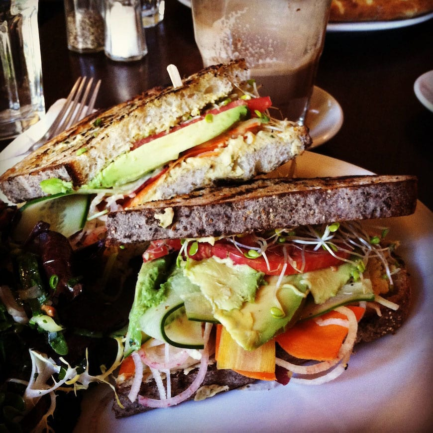Big Sur Bakery - Avocado Hummus Sandwich