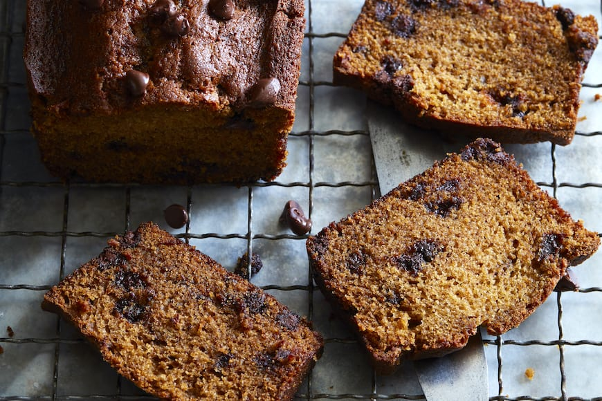 Chocolate Chip Pumpkin Bread from www.whatsgabycooking.com (@whatsgabycookin)