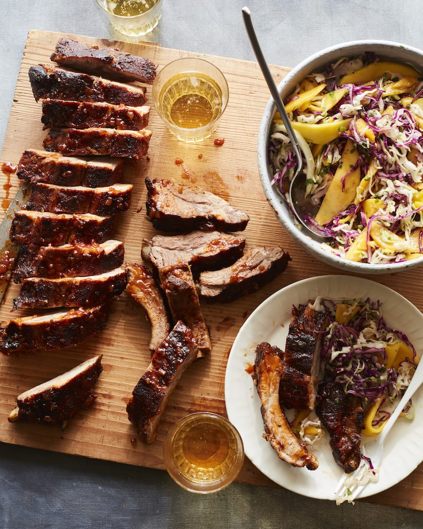 BBQ Baby Back Ribs with Mango Slaw from www.whatsgabycooking.com (@whatsgabycookin)