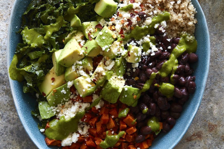 Sweet Potato Southwestern Quinoa Bowl from www.whatsgabycooking.com (@whatsgabycookin)