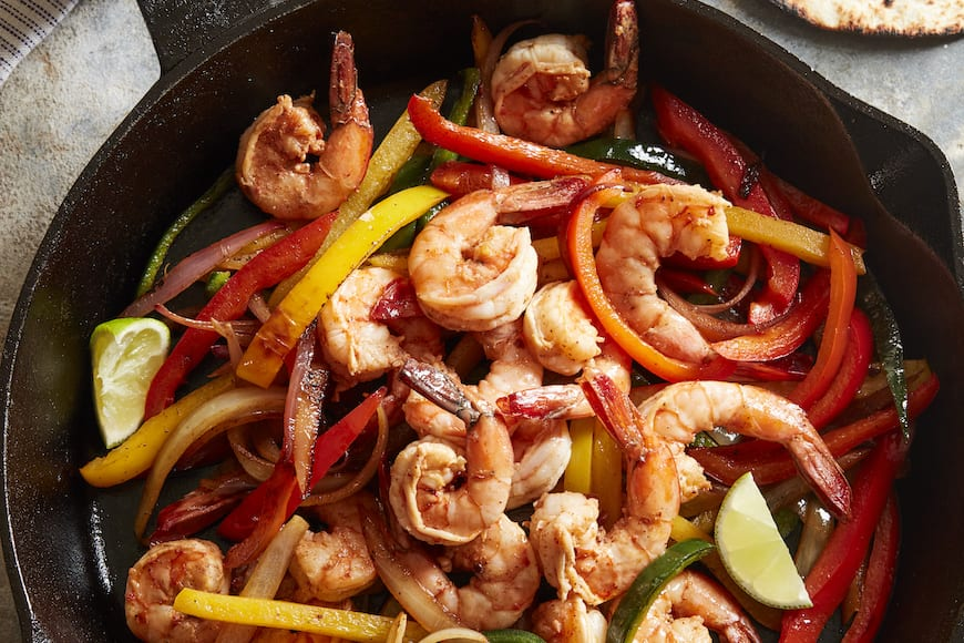 Shrimp Fajitas from www.whatsgabycooking.com (@whatsgabycookin)