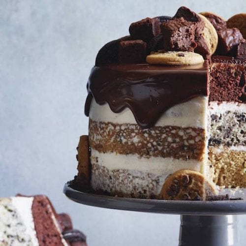 Brilliant Slutty Brownie Cake Triple Layered Whats Gaby Cooking Funny Birthday Cards Online Aboleapandamsfinfo