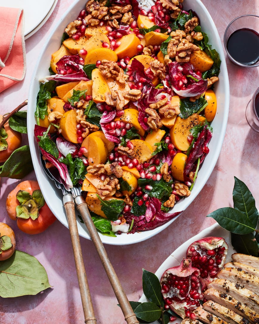 Persimmon Salad from www.whatsgabycooking.com (@whatsgabycookin)