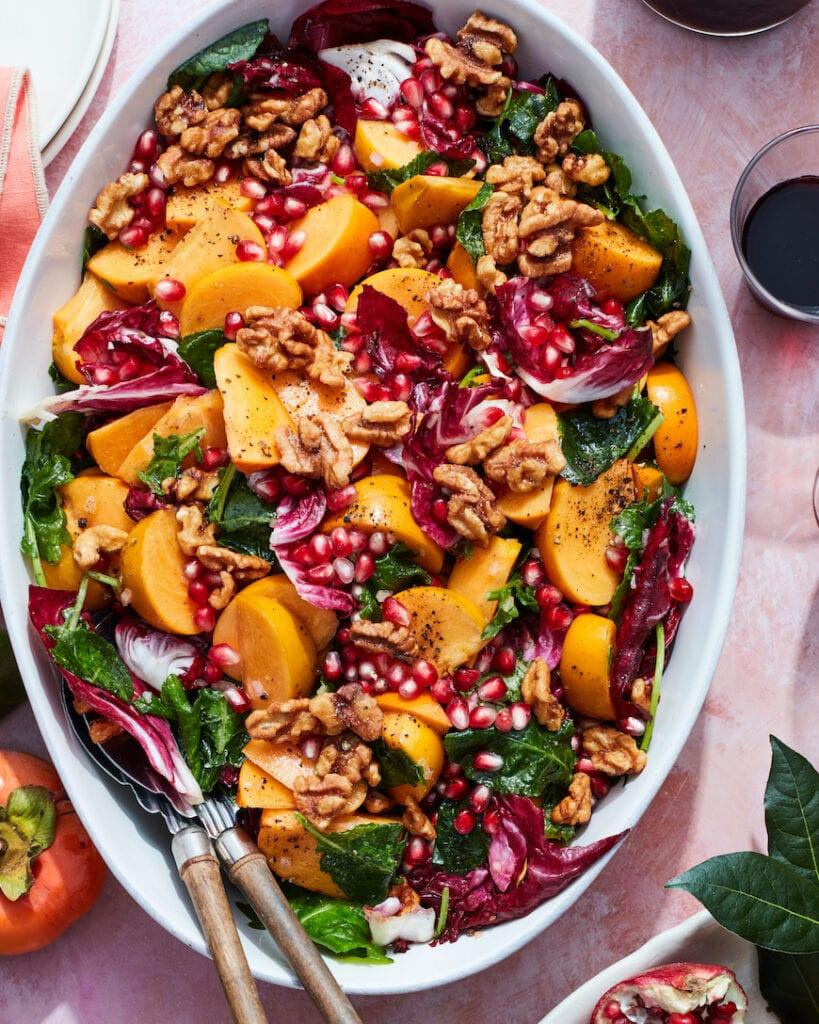 Persimmon Salad from www.whatsgabycooking.com (@whatsgabycookin)