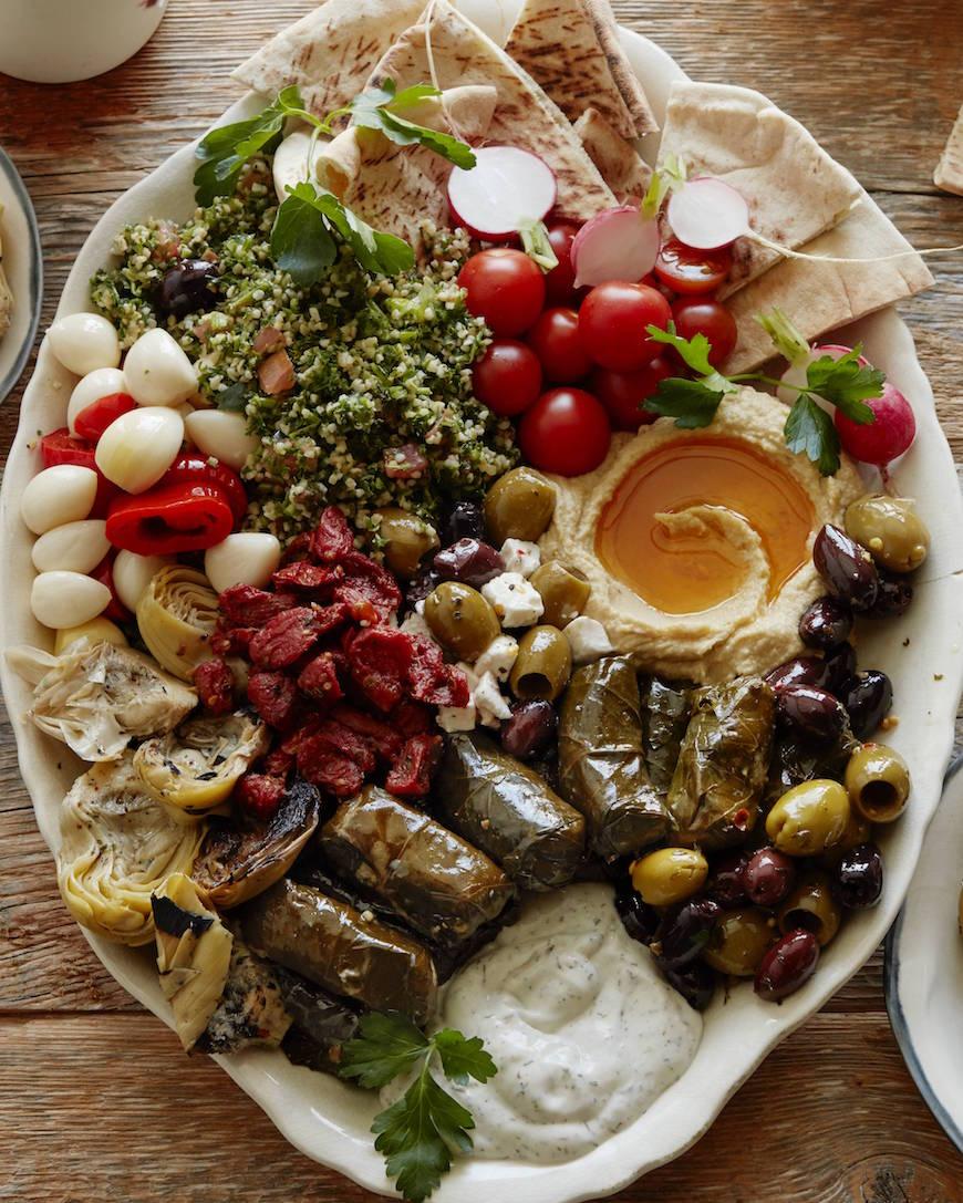 Vegetarian Mezze Platter - What's Gaby Cooking