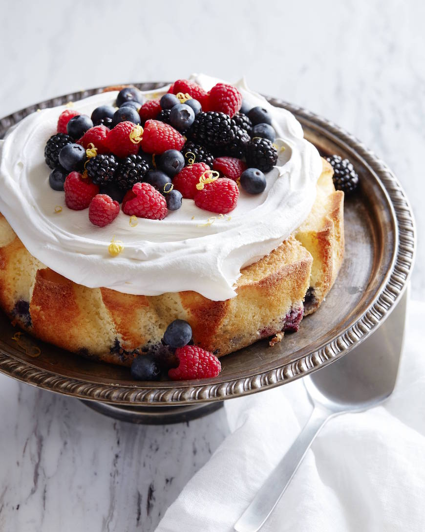 Mixed Berry Lemon Drenched Cake from www.whatsgabycooking.com (@whatsgabycookin)