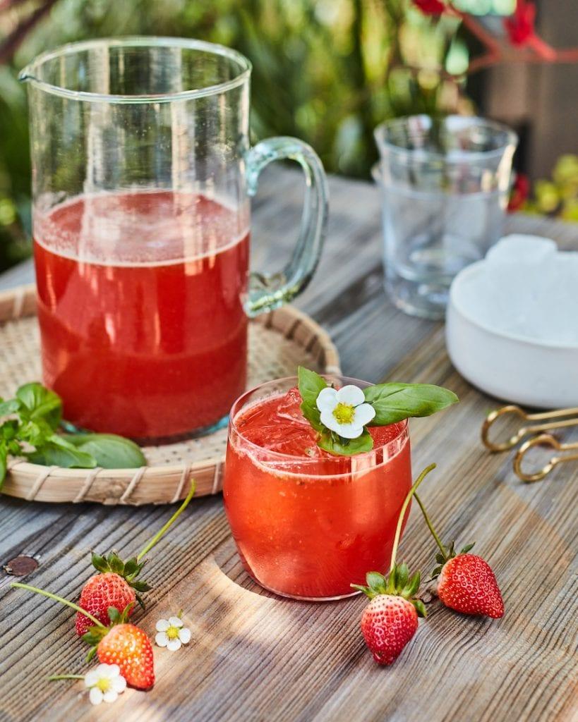 Strawberry Basil Lemonade from www.whatsgabycooking.com (@whatsgabycookin)