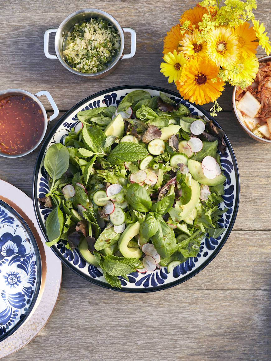 Ginger Soy Herb Salad from www.whatsgabycooking.com (@whatsgabycookin)