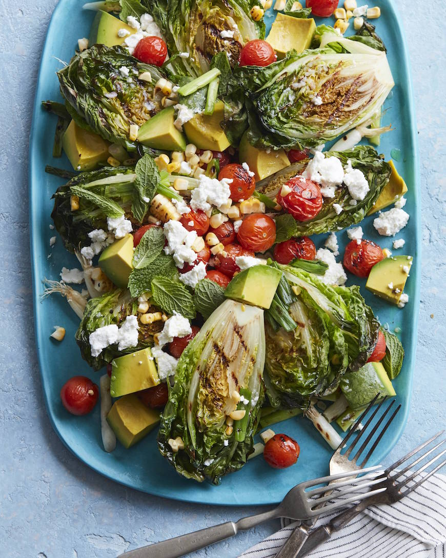 Grilled Summer Cobb Salad from www.whatsgabycooking.com (@whatsgabycookin)