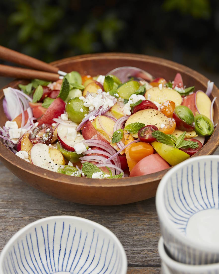 Summer Stone Fruit Salad from www.whatsgabycooking.com (@whatsgabycookin)