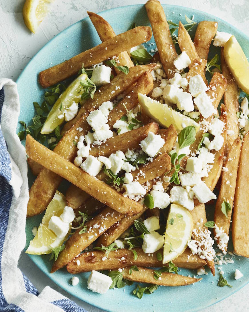 Oregano Feta Fries from www.whatsgabycooking.com (@whatsgabycookin)