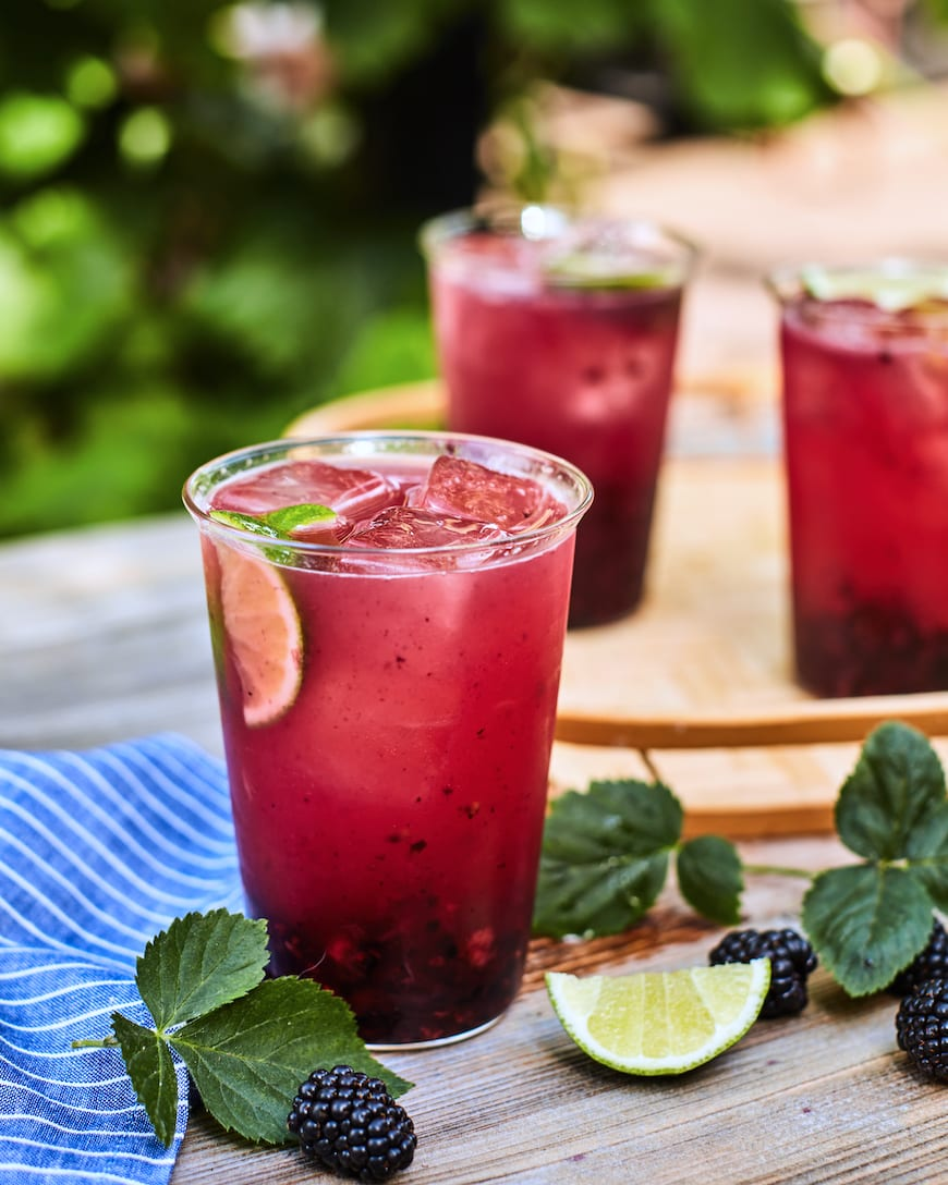 Smashed Blackberry Moscow Mules from www.whatsgabycooking.com (@whatsgabycookin)